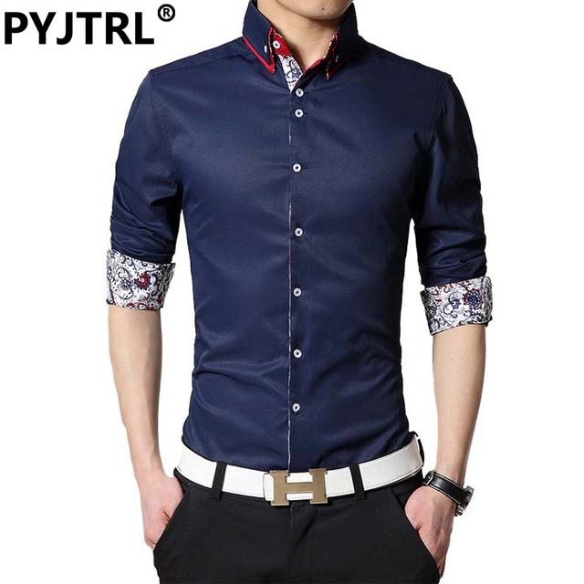 Moda hombre delgado coreano de los hombres brand clothing casual oficina algodón camisa tommis camisa masculina sociales
