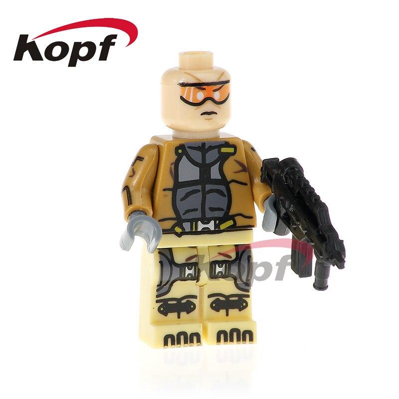 PG338 Super Heroes X-Force Agen Zero Green Goblin G. W. Bridge Bricks Christmas Building Blocks Model For Children Gift Toys