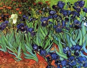 Ирисы, цветы, сад, Винсент Ван Гог, картина маслом, репродукция, картины на холсте, настенное искусство для украшения спальни и дома