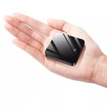 Мини внешний аккумулятор, быстрая зарядка, 5000 мА/ч, ультратонкий Светодиодный, с зеркальным экраном, портативное зарядное устройство, внешняя батарея для всех мобильных телефонов