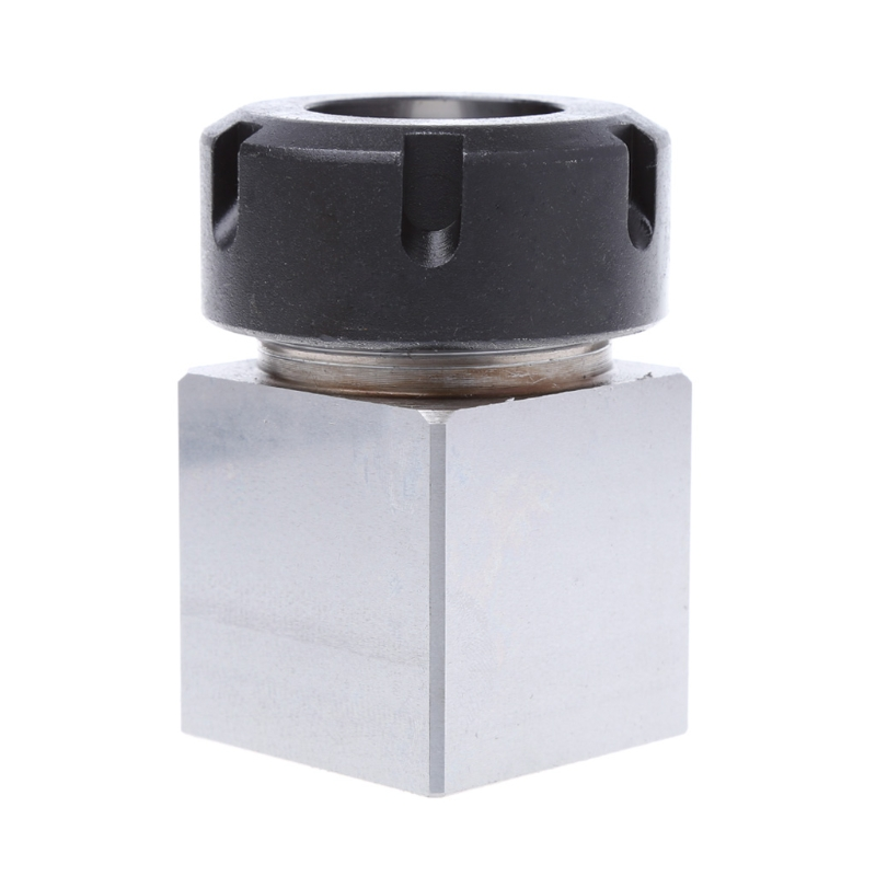 OOTDTY ER-32 Square Collet Chuck Block Holder 3900-5124 For CNC Lathe Engraving Machine 1pc square er40 collet chuck block holder 3900 5125 for cnc lathe engraving machine cross hole drilling