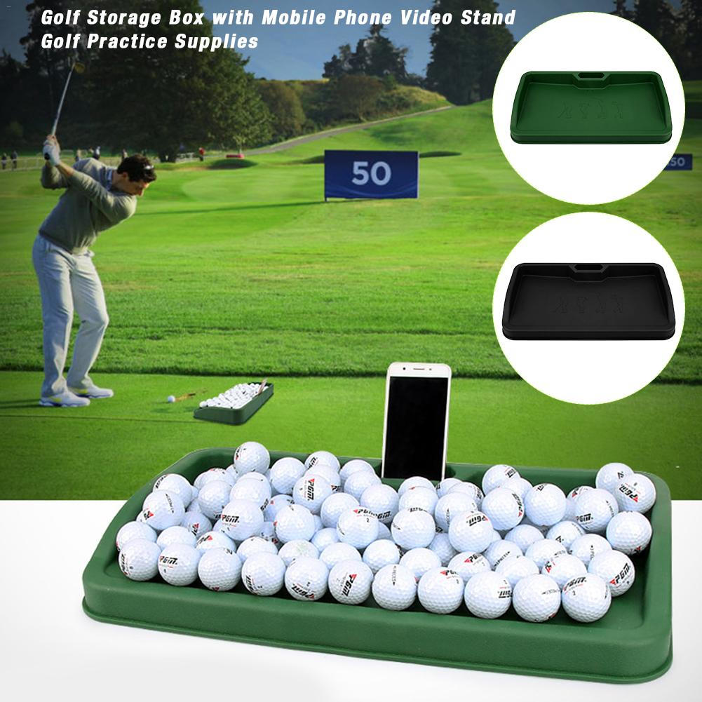 Professional 1pc Storage Box Rubber With Mobile Phone Video Stand Holder For Golf Practice SuppliesProfessional 1pc Storage Box Rubber With Mobile Phone Video Stand Holder For Golf Practice Supplies
