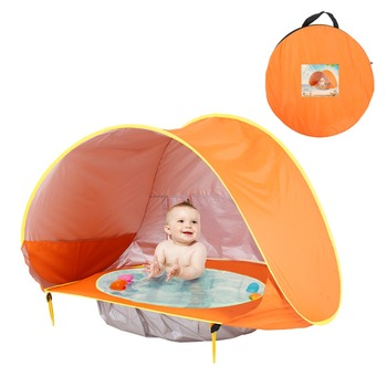 Baby Beach Tent Uv-protecting Sunshelter With A Pool Baby Kids Beach Tent Pop Up Portable Shade Pool UV Protection Sun Shelter 4