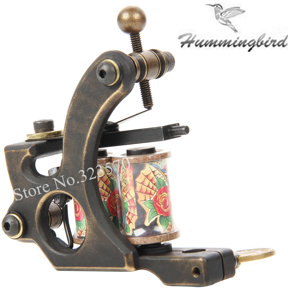 Top Pro Handmade Copper Tattoo Machine Gun 8 Wrap Coils Set Liner For Tattoo Supply -- FTM-2244L 8 wrap coils iron electric tattoo machine gun liner