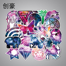 Hot Sale 36Pcs Galaxy Stickers Mixed Funny Cartoon Jdm Doodle Decals Luggage Laptop Car Styling Bike