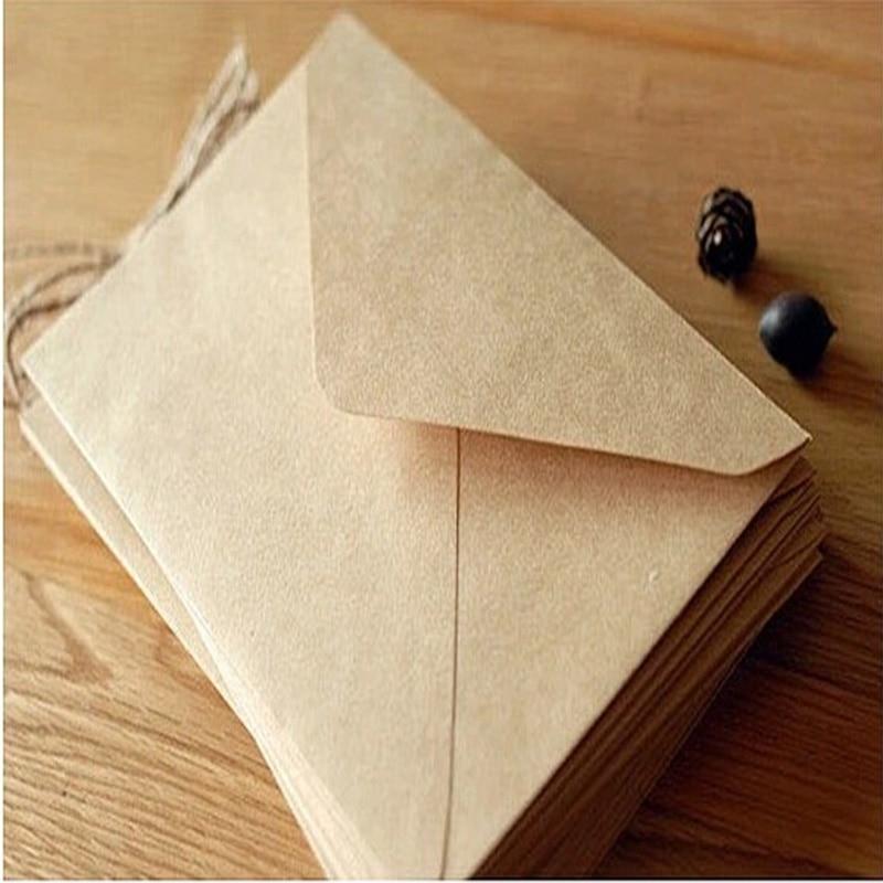 50PCS/lot NEW Vintage simple Kraft paper envelope 16*11cm diy Gift envelopes for wedding red envelope supplies 2