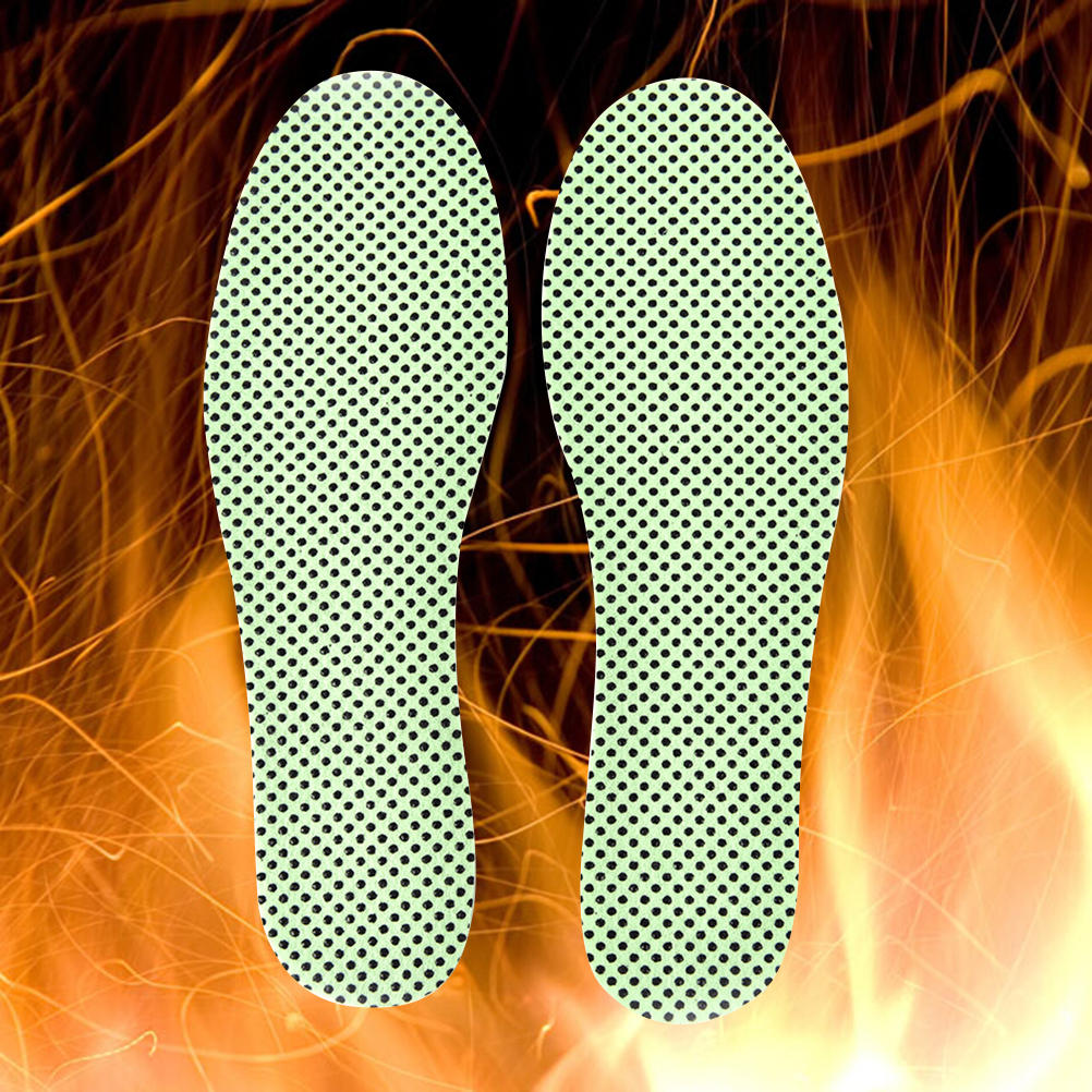 Self-heating Footwear Insoles Natural Tourmaline Insoles Warm Reflexology Insoles Winter Soles