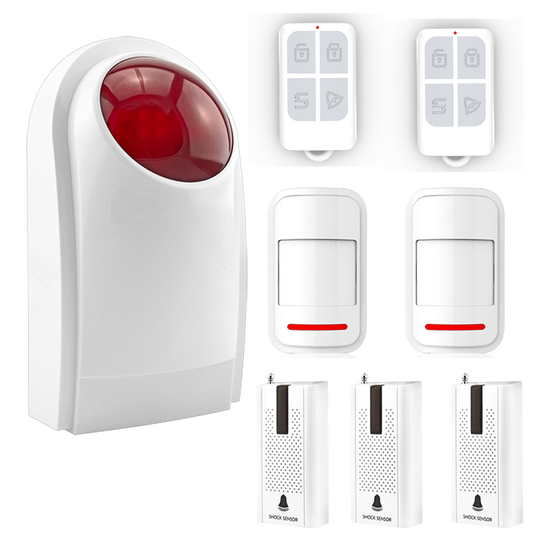 433MHz Security Alarm Mainframe Kits Security Alarm System Wireless Door Sensor Remote Control Smoke Detector for Home Security 433mhz security alarm mainframe kits security alarm system wireless door sensor remote control smoke detector for home security