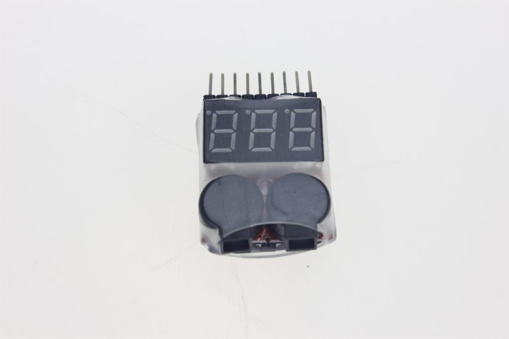 F00872 Low Voltage Buzzer Alarm Volt Meter Indicator Checker Dual Speaker 1-8S Lipo/Li-ion/Fe Battery 2 in 1 Tester 2S 3S 4S 8S 1pc bx100 1 8s lipo battery voltage tester low voltage buzzer alarm battery voltage checker with dual speakers