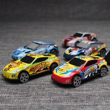 6PCS Racing Plastic Cars PARKING LOT Toy Wheels Mini modelo de coche para niños juguetes para niños