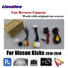 Liandlee For Nissan Kicks 2016-2018 Car Rearview Reverse Reversing Parking Camera Display / Rear View Backup Back Camera цены