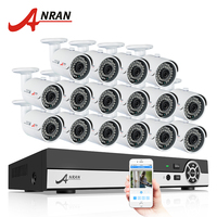 ANRAN Plug Play 16CH Surveillance System 1080N AHD HDMI H 264 CCTV DVR Kit 1 0MP