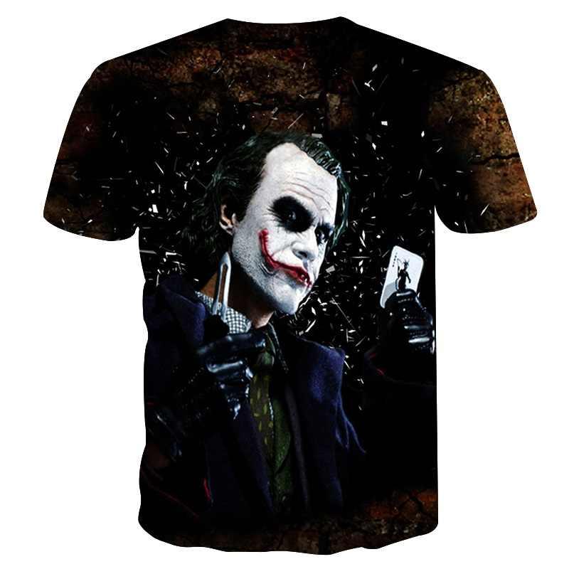 BIANYILONG новейшие Harajuku Джокер покер 3D печать крутая футболка для мужчин/женщин с коротким рукавом летние топы футболки Модная Футболка