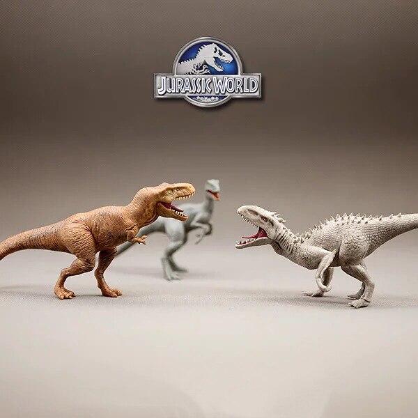Jurassic World Dinosaur Action Figure Tyrannosaurus Rex Velociraptor Indominus Rex I-Rex Toy Dolls Gift for Kids Fans