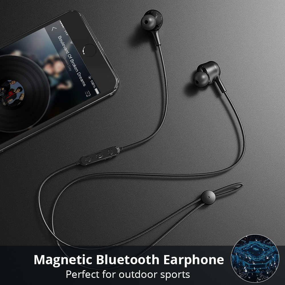 Langsdom L17 bezprzewodowe słuchawki Bluetooth 5.0 słuchawka do telefonu iPhone zestaw słuchawkowy magnes słuchawki douszne z mikrofonem Stereo Bluetooth słuchawki