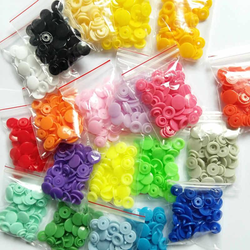 30-100 zestaw T5 zatrzaski z żywicy dla dzieci zatrzaski z tworzywa sztucznego akcesoria odzieżowe zatrzask zapięcia Poppers 20 kolorów 1.2cm