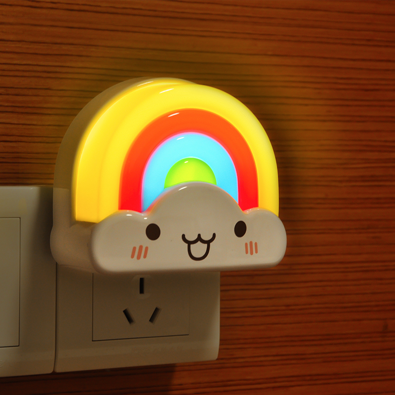 Luzes da Noite colorful rainbow led night light Light Color : Colorful