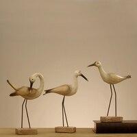 Set of 3 Resin Seabird Living Room Decorative Arts Bird