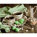 Картина по номерам «сделай сам», Прямая поставка, 40x50, 60x75 см, вкусный зеленый кофе, натюрморт, холст, свадебное украшение, художественная кар...