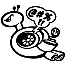 Sticker Vinyl Turbo Snail Decals Car Cool Funny S6-3192 Car-Styling Black/silver