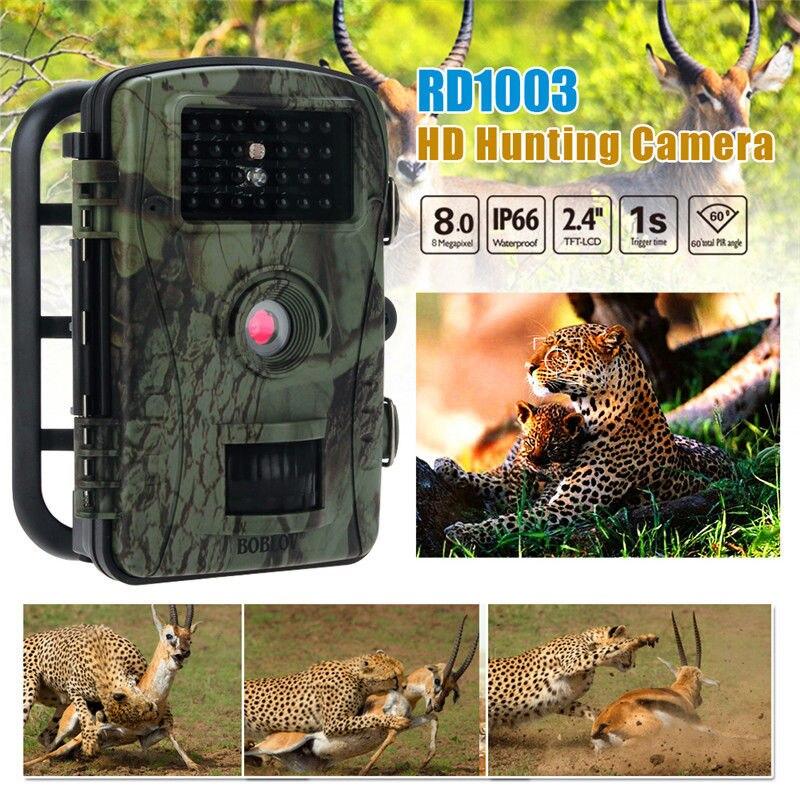 Boblov RD1003 8MP PIR Night Vision IR Game Hunting Trail Security HD Camera Cam DVR waterproof 2 5 lcd 8 0 mp cmos solar power ir night vision hunting trail security camera