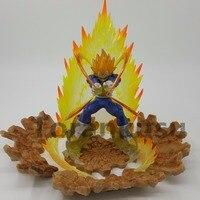 Dragon Ball Z Vegeta Super Saiyan Action Figures Power Rock Base PVC 150mm Anime Dragon Ball Figurts Zero Super Vegeta Model Toy