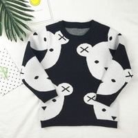 Autumn Cartoon Bear Girls Clothes 2017 Winter Children Sweaters Long Sleeve Outerwear Toddler Boys Kids Knitwear Clothing 18M-5Y