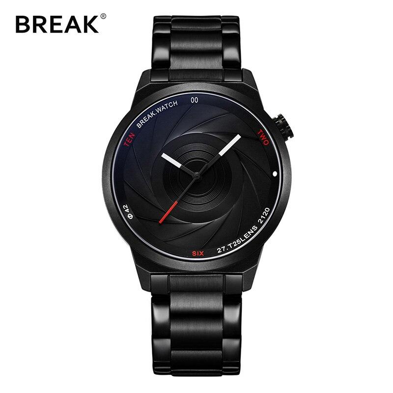 BREAK photographe série Unique appareil photo Style hommes femmes décontracté mode Quartz moderne cadeau montres