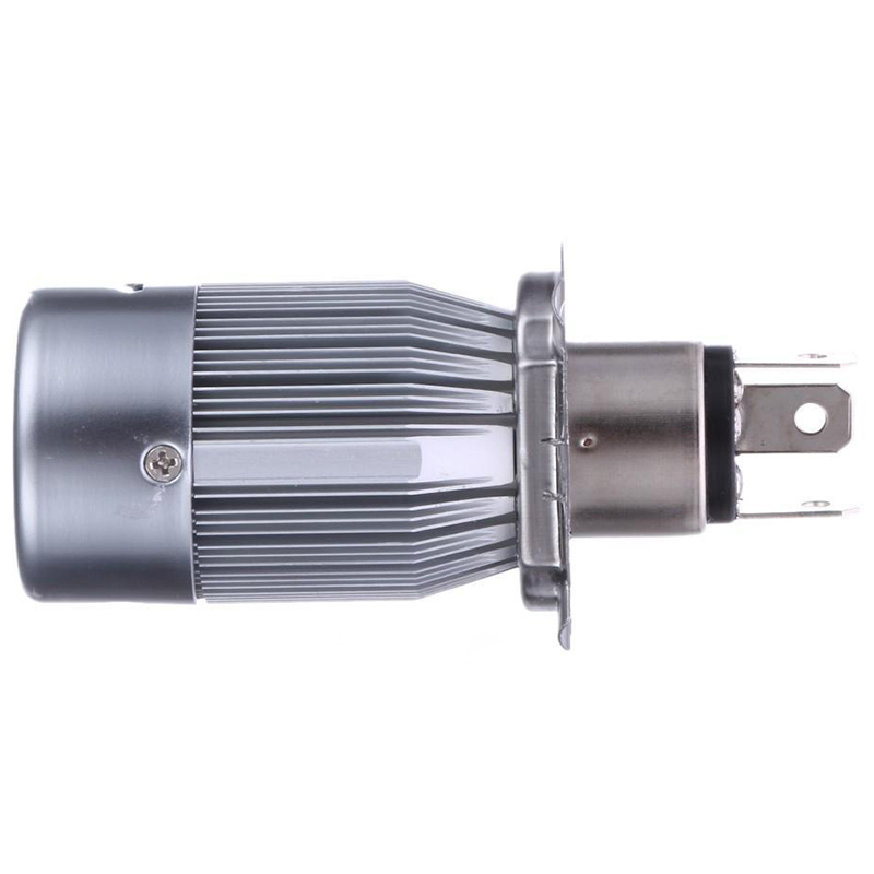 High Quality H4 Motorcycle Headlight 20W COB LED High / Low Beam Front Light Super Bright 6500K White Lamp Bulb 2000LM