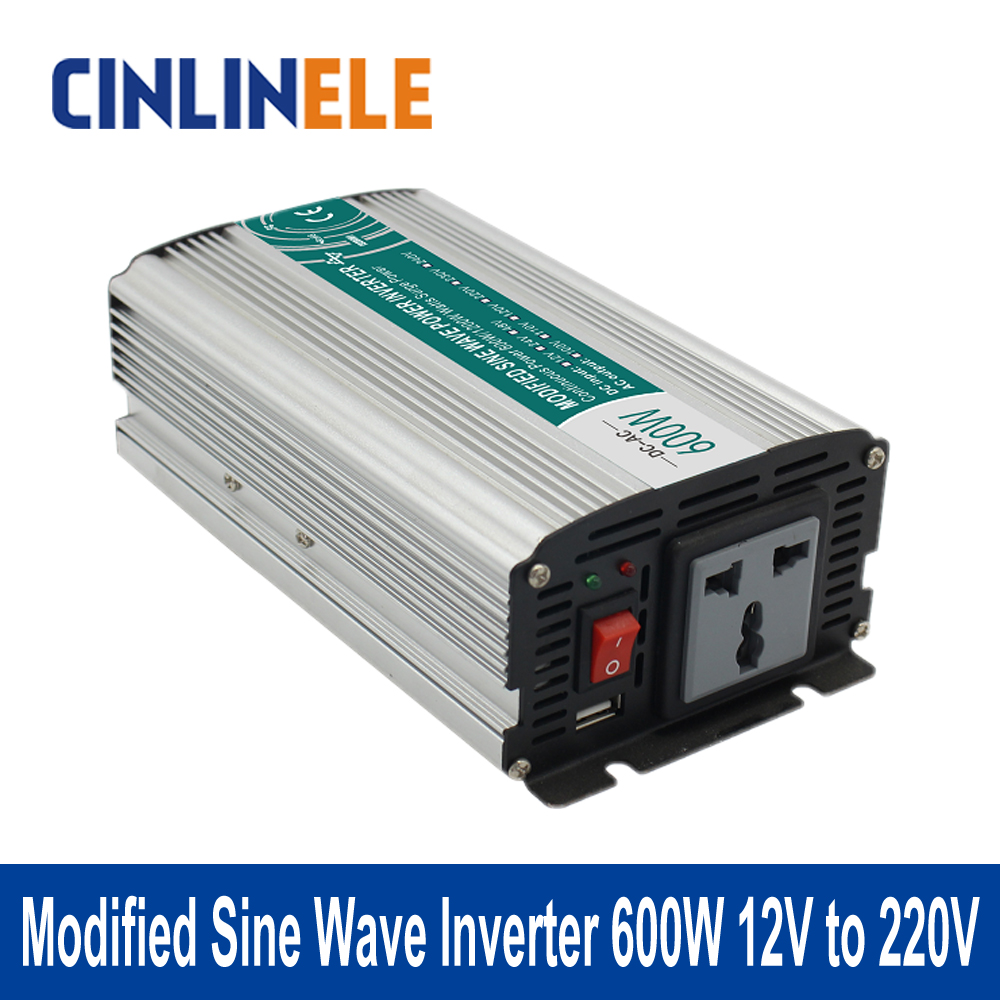 ФОТО Shine Series Modified Sine Wave Inverter 600W CLM600A-122 DC 12V to AC 220V 600W Surge Power 1200W