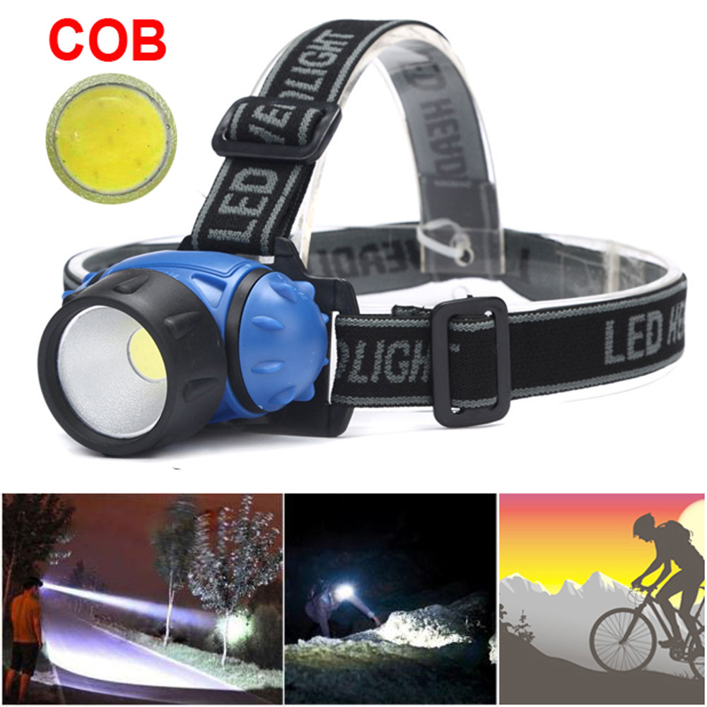 Bicycle Bike COB LED Headlight Front Ride Riding Cycling Head Light Lamp