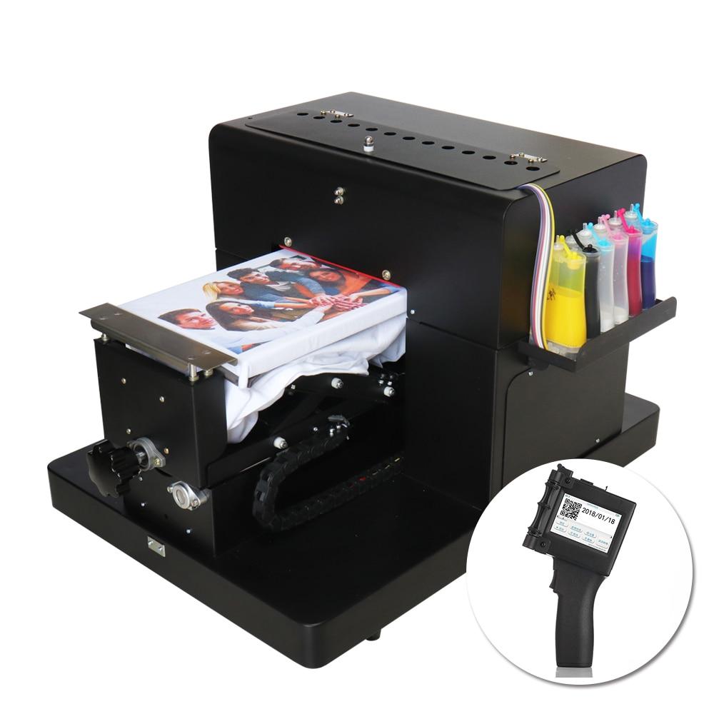 T-shirt Priner A4 DTG Printer Clothes Flatbed Multifunction Printing Machine & Handheld Inkjet Printer Portable Label Printer