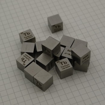 99.95% High Purity Terbium Tb 8.3g Carved Element Periodic Table 10mm Cube
