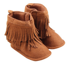 Newborn Baby Girl Shoes Soft Sole Boots Toddler Infant Prewalker Tassel Shoes Winter Boots Drop Shipping