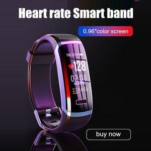 Image 2 - Letike reloj inteligente GT101 para hombre y mujer, pulsera con control del ritmo cardíaco y del sueño en tiempo real, color rosa