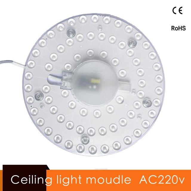 תקרת אורות מודול Led מודול אור Lamparas דה Techo Luminaria דה Teto AC 220 v 12 w 18 w 24 w 36 w קל להחליף תקרת אור