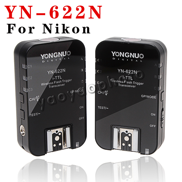 Yongnuo YN-622N Wireless HSS TTL Flash Trigger 1/8000s Flash Ratio for Nikon D800 D600 D7000 Camera yn e3 rt ttl radio trigger speedlite transmitter as st e3 rt for canon 600ex rt new arrival