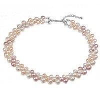 2018 High Quality Freshwater Pearl Bracelets Natural Pearl Bracelet for Women Cuff Bangles Wrap Beads Bracelet