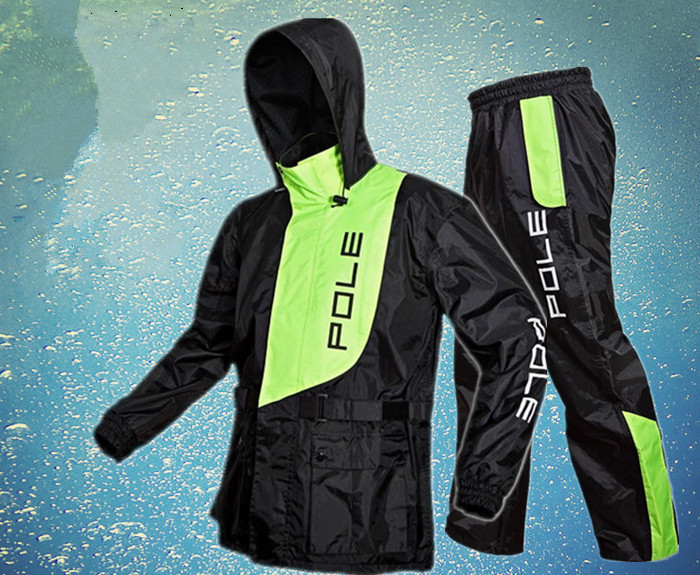 Free Shipping 3 Color Fashion Outdoor Sports Fishing Man & Woman Waterproof Fission Raincoat Suit Motorcycle Raincoat +pants ...