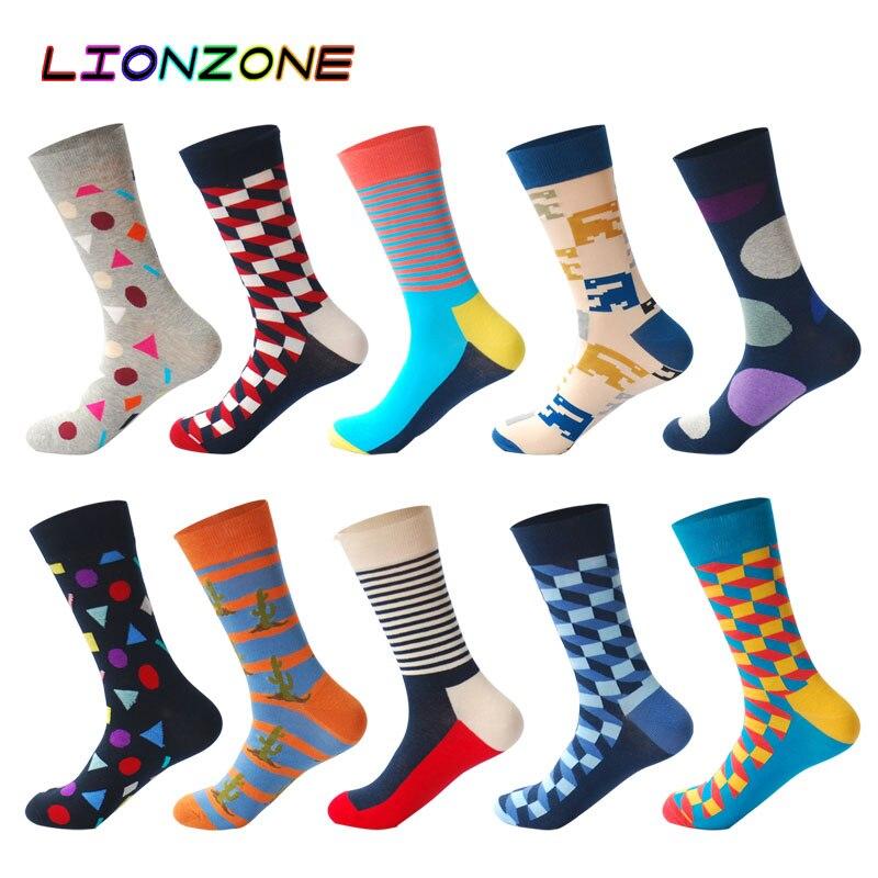 Underwear & Sleepwears Mens Thermal Happy Socks High Quality Colorful Design Men Combed Cotton Funny Socks Novelty Skateboard Socks Gift For Hombre
