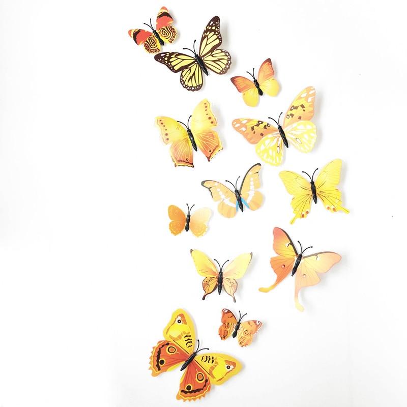 1 Set Magneet 3d Vlinders Op De Muur Stickers Baby Kinderkamer Muurstickers Keuken Diy Vinyl Muursticker Home Decor Woonkamer Kortingen Prijs