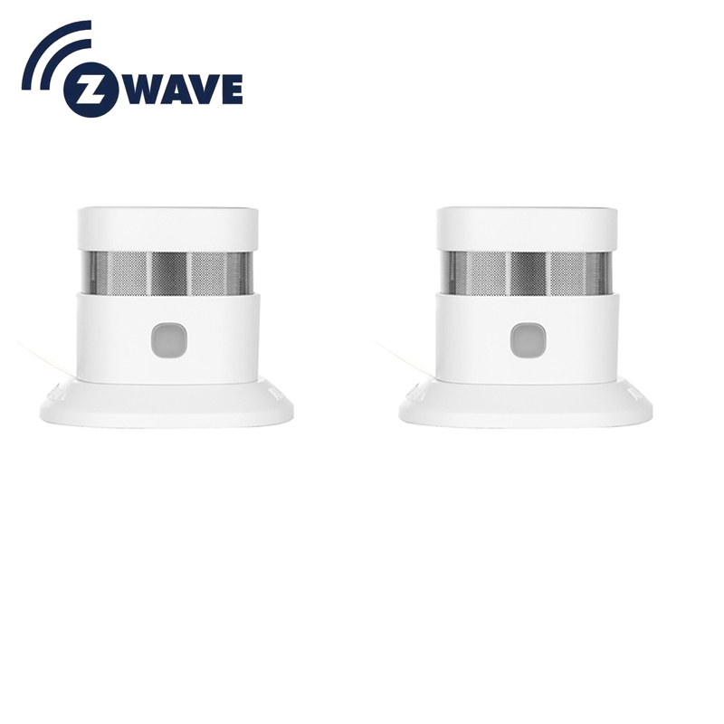 HAOZEE Heiman Z-wave Plus Smoke Sensor Smart Home EU Version 868.42mhz Z Wave Smoke Detector Power Battery Operated 2pcs/lot