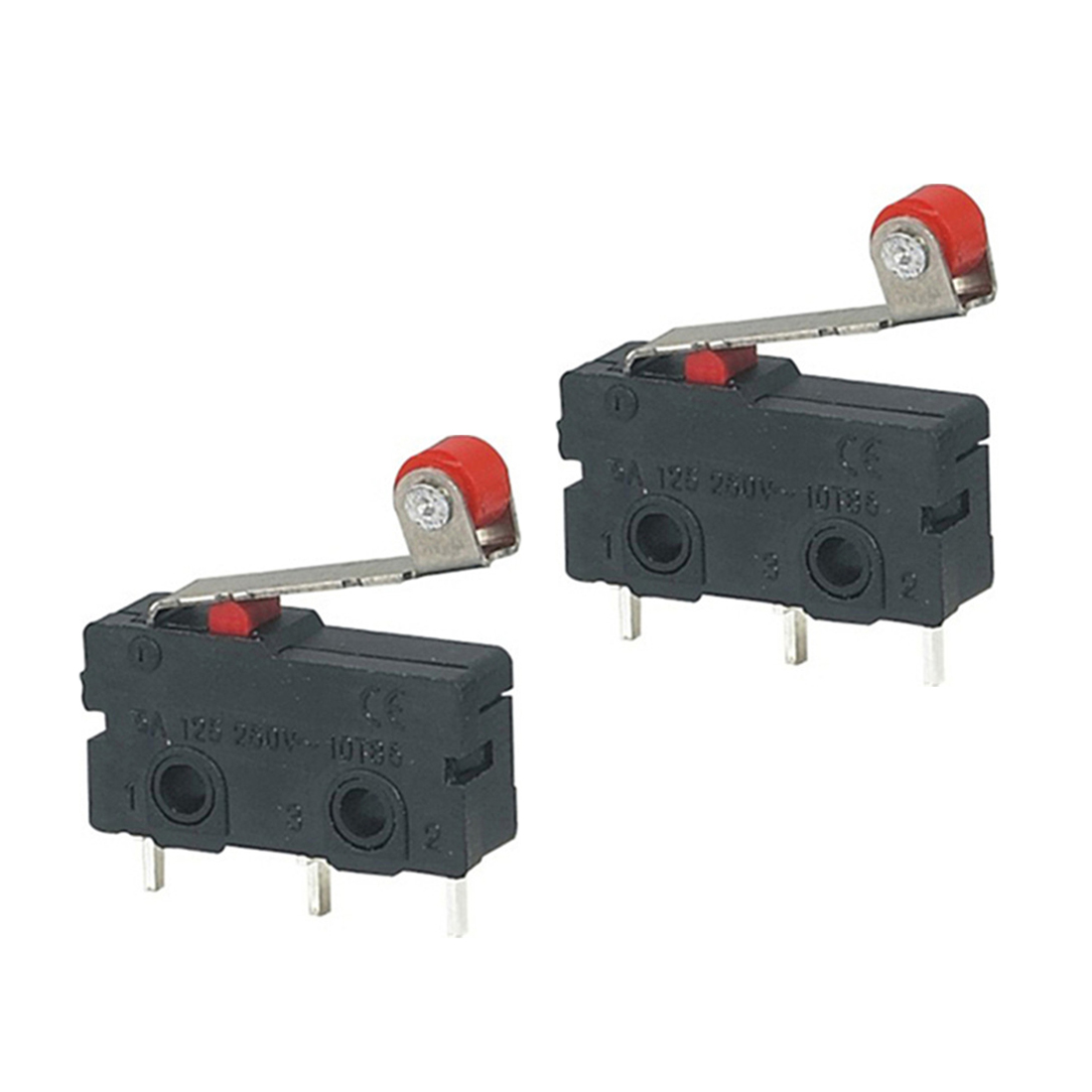 10Pcs Micro Roller Lever Arm Open Close Limit Switch KW12-3 PCB Microswitch XW