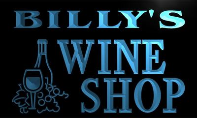 x0073-tm Billys Wine Shop Custom Personalized Name Neon Sign Wholesale Dropshipping On/Off Switch 7 Colors DHL