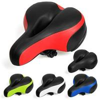 LumiParty Breathable Waterproof Hollow Bike Seat Large Reflective Shock Absorb Spring Bicycle Saddle Cushion