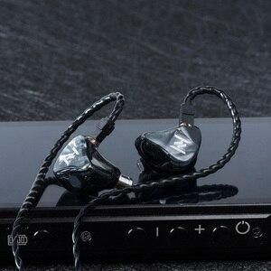 Image 5 - Ak yinyoo灰 1DD + 1BAハイブリッドで耳イヤホンハイファイ低音イヤホンインナーイヤー型headplug djヘッドセット交換ケーブルyinyoo v2 D2B4 トパーズ