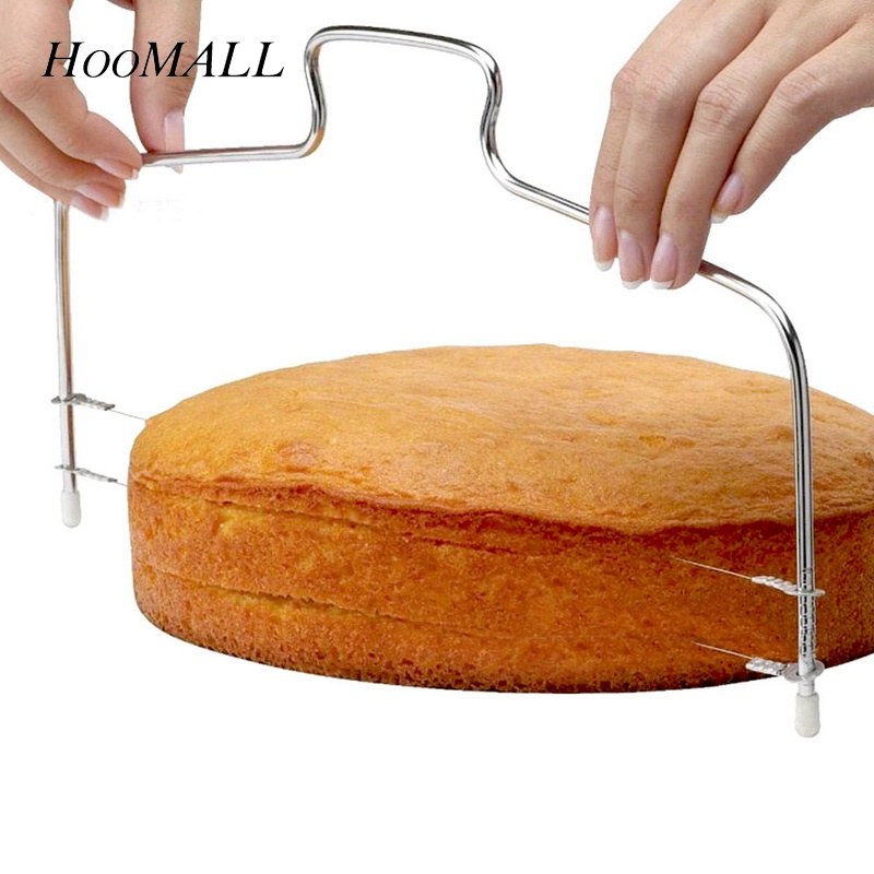 Hoomall 1PC Stainless Steel Adjustable Wire Cake Cutter Slicer Leveler DIY Cake Baking Tools High Quality Kitchen Accessories