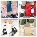 Panda dos desenhos animados meias para recem nascido moda de alta joelho meia kawaii anti derrapante bebê marca a longo perna pad aquecedores joelho sokken crianças