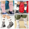 cartoon panda socks for recem nascido fashion high knee kawaii meia anti slip baby brand long leg warmers knee pad sokken kids