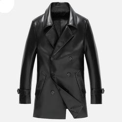 Men s leather jacket coats high end business leather jacket men double breasted casual suit jacket.jpg 250x250